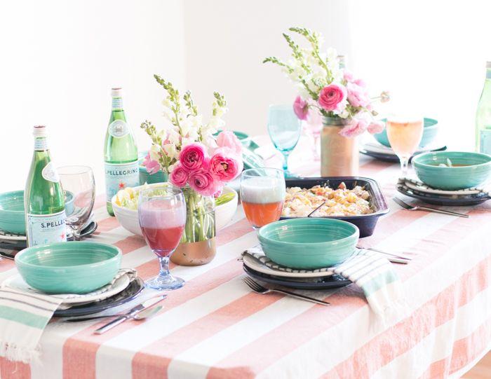 Easter Dinner Table using Turquoise Fiesta® Dinnerware | Oh So Delicioso  sc 1 st  Pinterest & Easter Dinner Table using Turquoise Fiesta® Dinnerware | Oh So ...