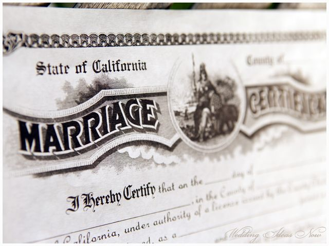 A California Marriage Certificate artfully captured #weddingideas