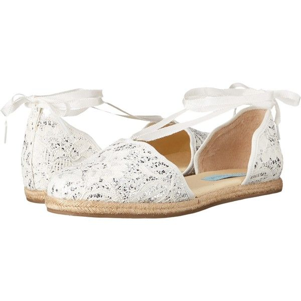 Blue by Betsey Johnson Riley (Ivory Glitter) Women's Shoes ($36) ❤ liked