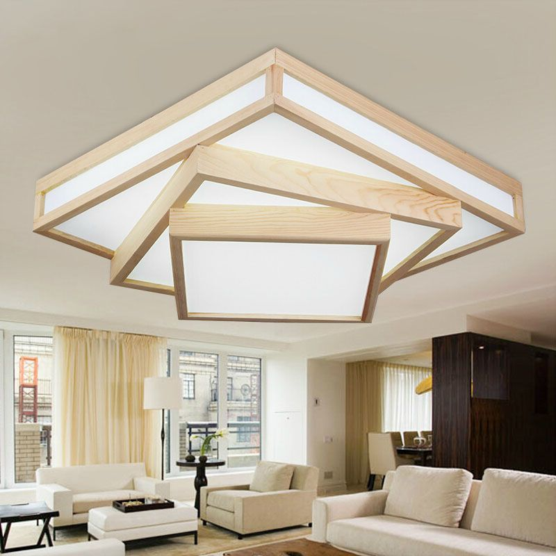Modern Wood LED Ceiling Light CL181 In 2019