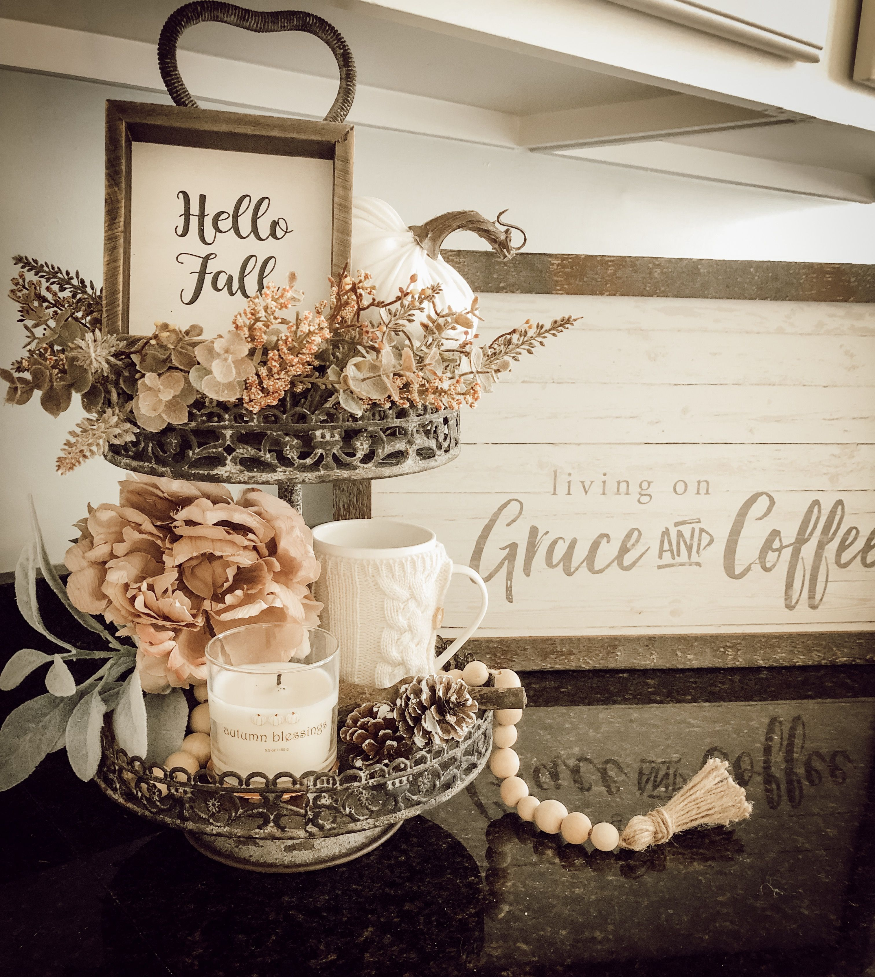 Tray Styling For Fall Tray Styling Wooden Decor Decor