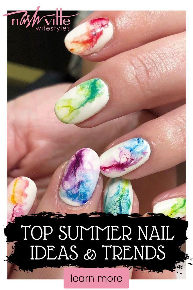 Bright Summer Nails   Nashville beauty   Nashville Wifestyles