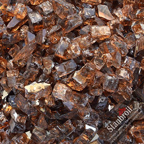 Decorative Fire Pit Glass Pellets Stanbroil 20pound 12 Inch Fire Glass For Fireplace Fire Pit Copper Reflective V Glass Fire Pit Fire Glass Glass Fireplace