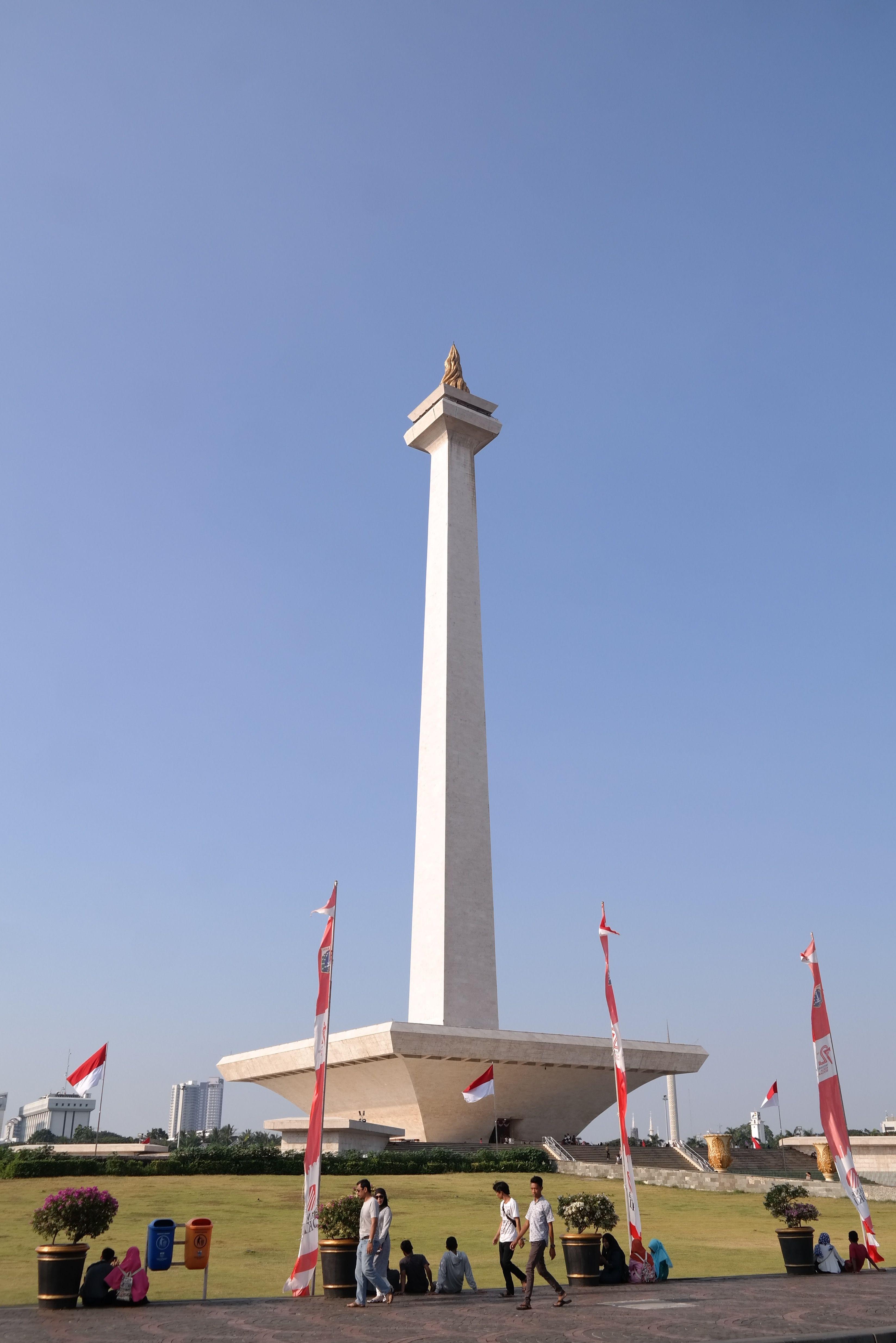 National Monument Monas Jakarta Fotografi Foto Lucu Pengeditan Foto