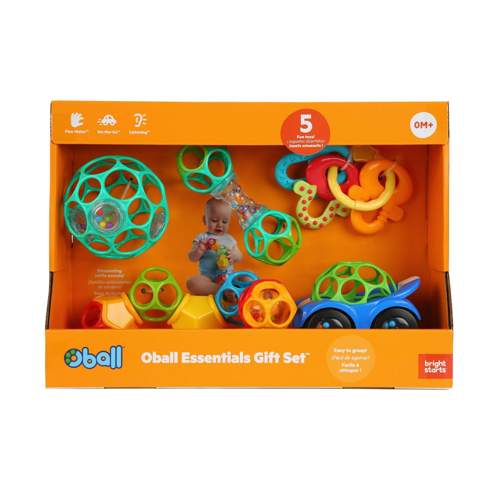 BRIGHT STARTS 4 TOYS IN GIFT BOX TEETHING FUN GIFT SET
