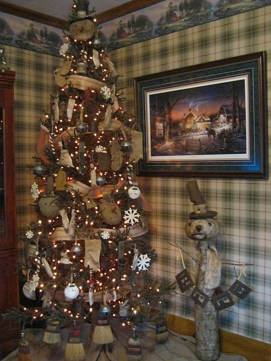 Diy Household Products That Save Money Without Chemicals Primitive Christmas Tree Primitive Country Christmas Primitive Christmas