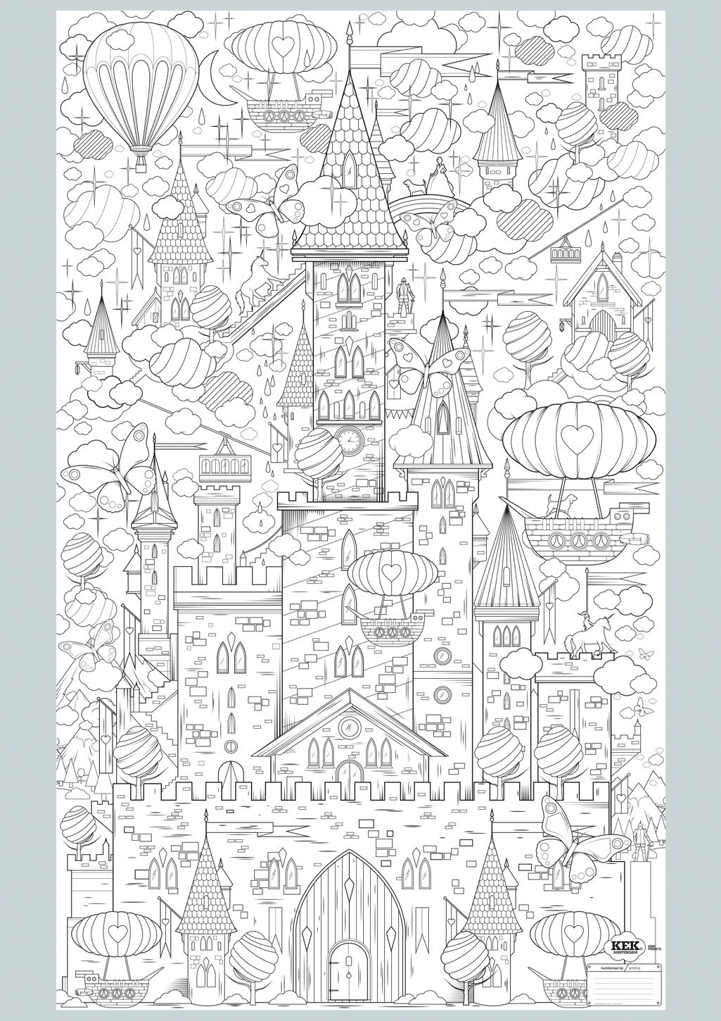 Coloring voor adults kleuren voor volwassenen - King Of My Castle Fantasy Abstract Doodle Zentangle Paisley Coloring Pages Colouring Adult Detailed Advanced