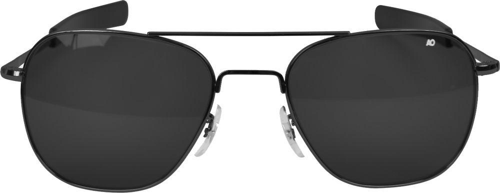 AO Eyewear Black Aviators   Grey Lenses Air Force Pilot Sunglasses   AOEyewear  Pilot e9ad4dccd4d0