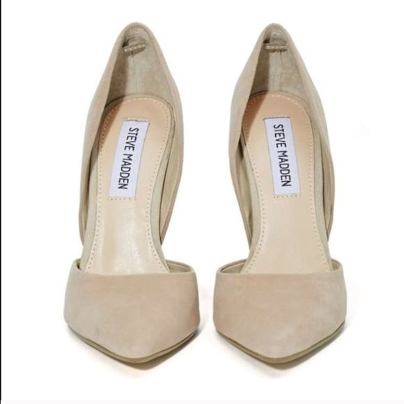 2746a0e4aa0 Nude suede Steve Madden heels. Beautiful suede pump. Worn once. They ...
