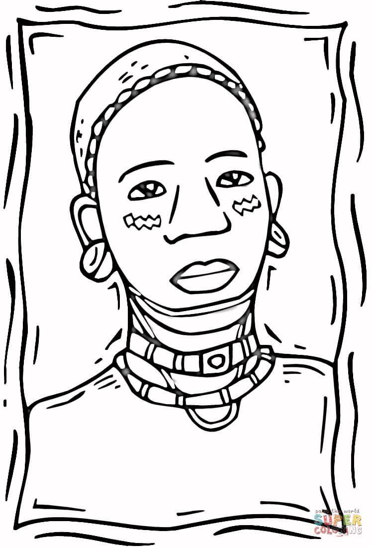 African People Coloring Pages | art oil paint | Pinterest ...