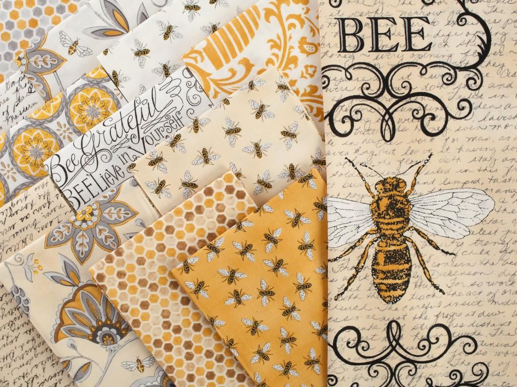 Bumble bee embroidery designs car pictures - Moda Bee Creative Precut Fabric