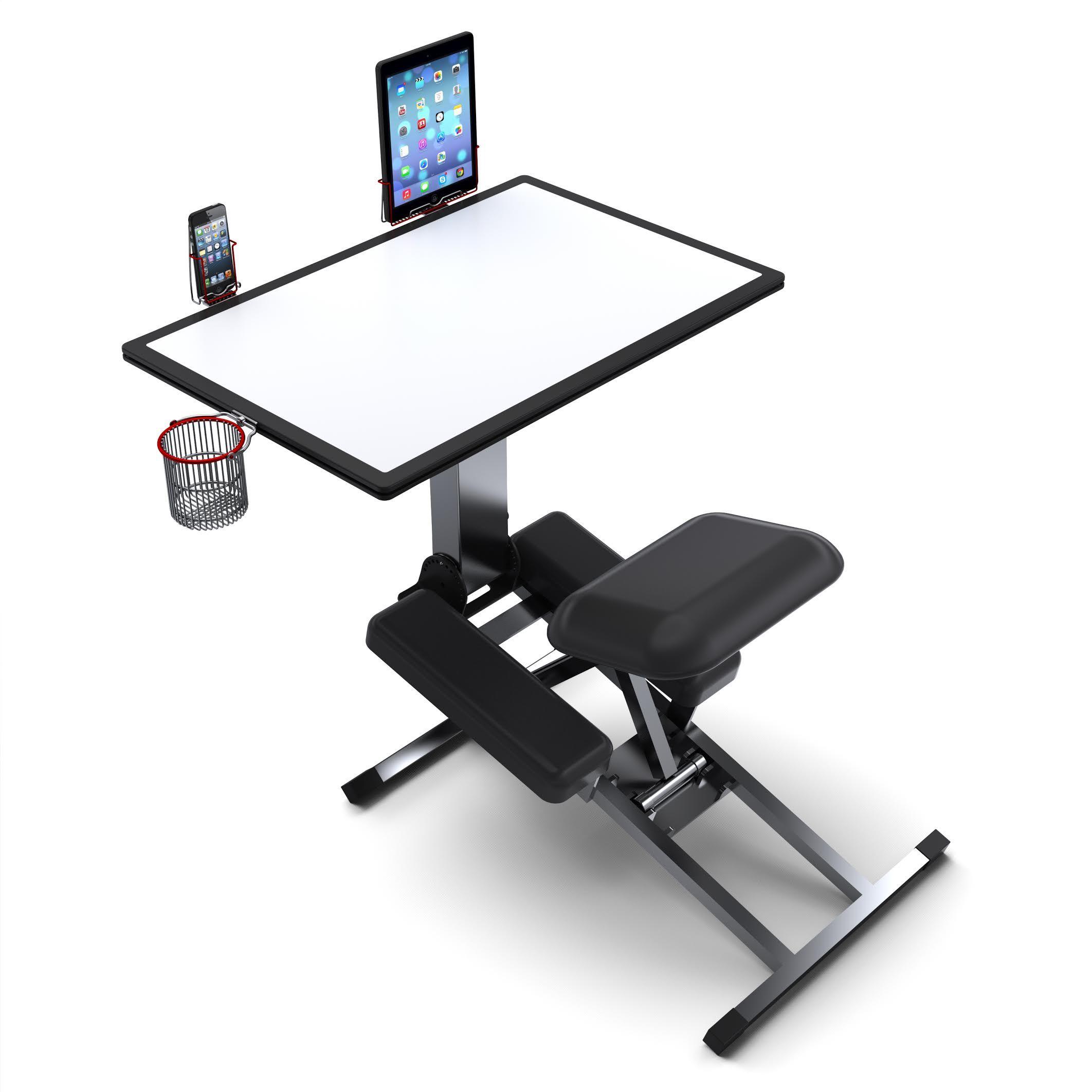 The Edge Desk Desk or Artist Easel that flattens