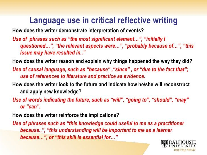 writing a reflective essay examples