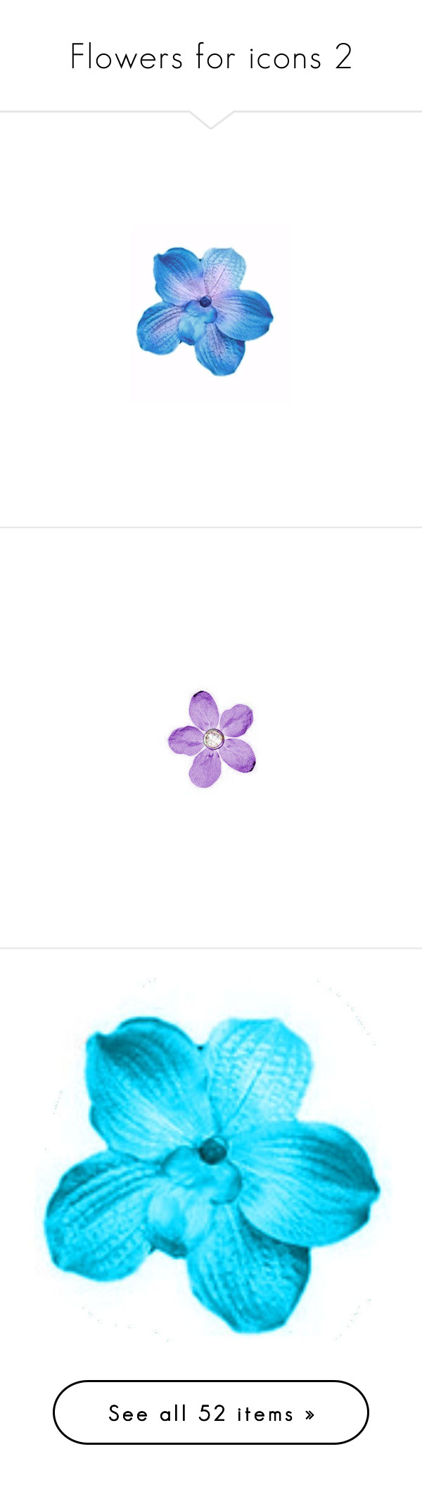 """Flowers for icons 2"" by amaya99 ❤ liked on Polyvore featuring flowers, icon flowers, flower fillers, fillers - flowers, fillers, purple, purple fillers, backgrounds, doodles and text"