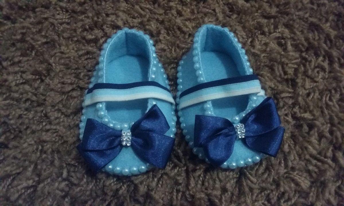 Sapatinho Com Tiara Azul Sapatos Sapatos De Feltro Tiara