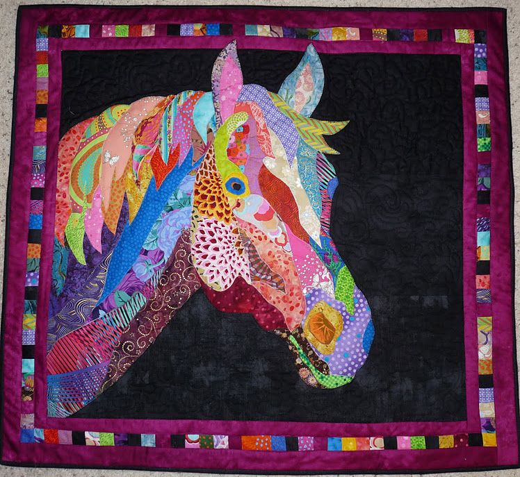 Feeling Simply Quilty Finishing Up The Horse Quilt For Chelsea Horse Quilt Art Quilts Applique Quilts