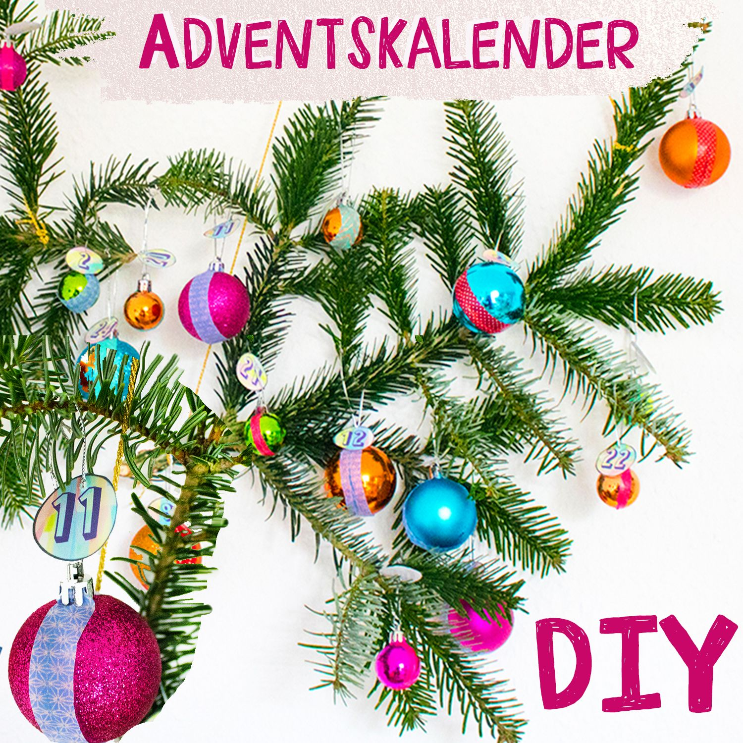 Photo of DIY – Advent calendar tinker with Christmas balls – Advent calendar DIY