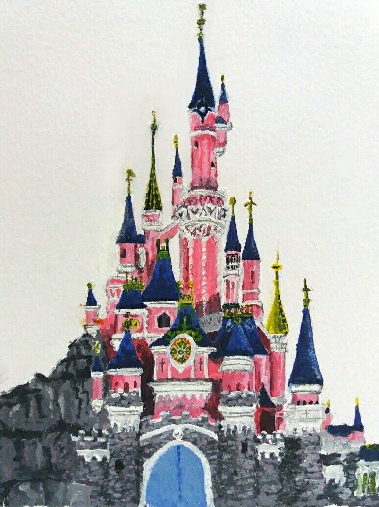 Peinture Couleur Disneyland Chateau De La Belle Au Bois Dormant