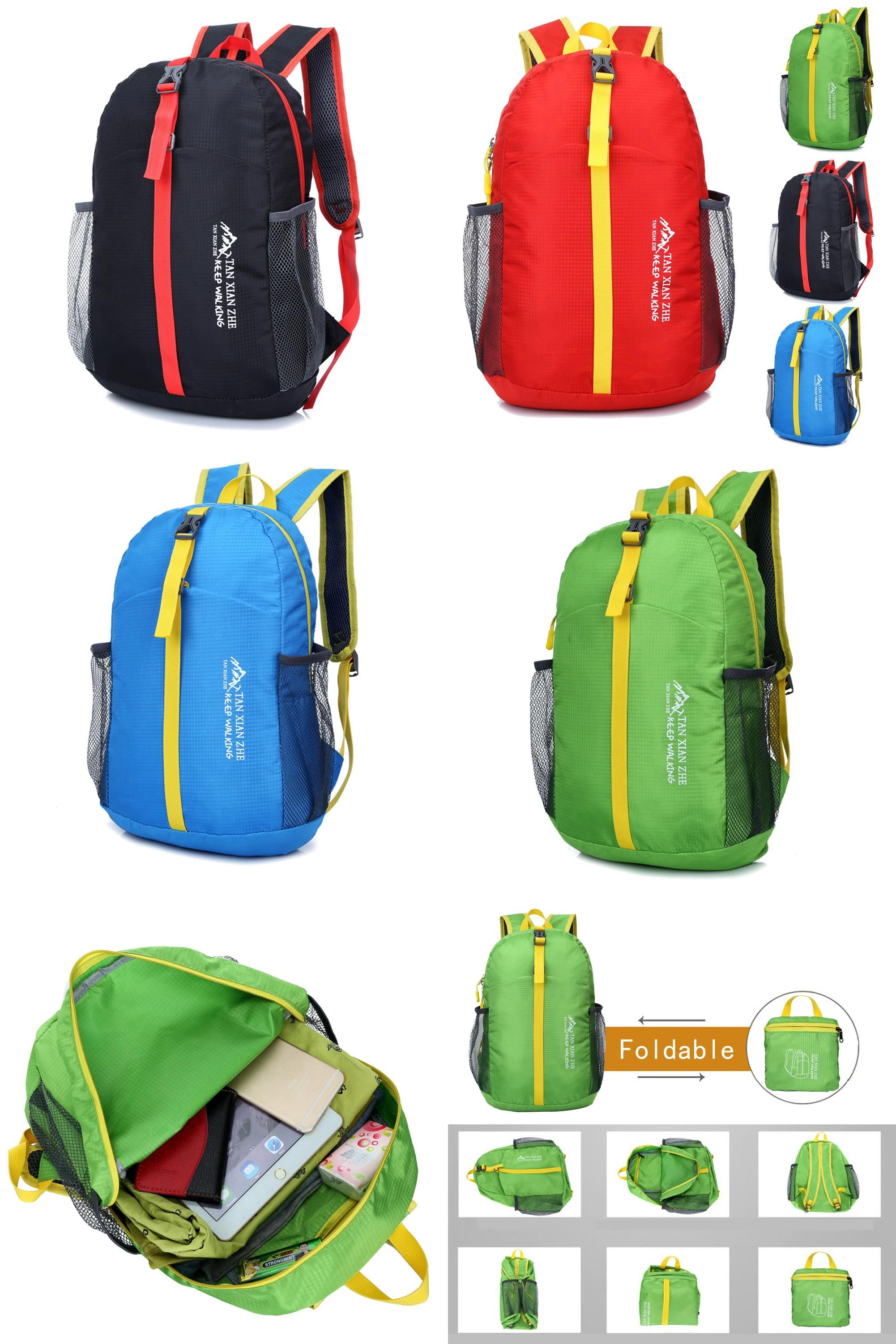 Visit to Buy] 4 Colors Ultralight Foldable Waterproof Backpack ...