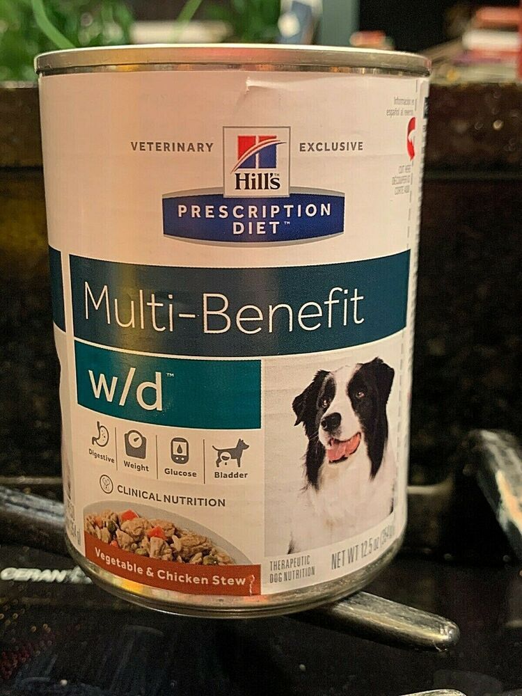 Hills Prescription Diet W D Multi Benefit Dog Food Chicken Stew 2 12 5oz Cans Nobrand Dog Food Recipes Chicken Vegetable Stew Dry Dog Food