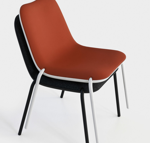 Boum Four Legs Stacking Chair   Pack Of 4