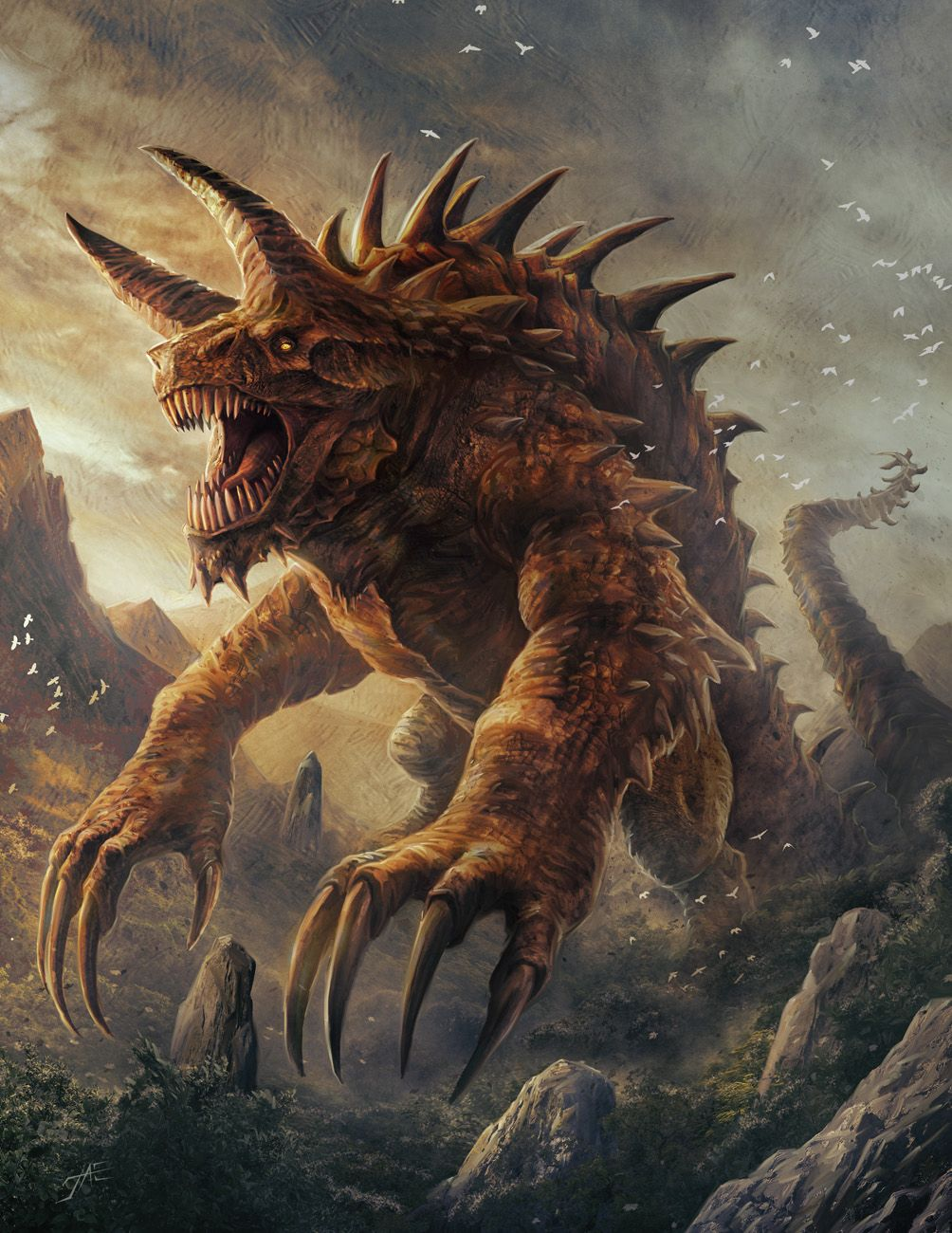 Tarrasque by JasonEngle | Fantasy beasts, Fantasy monster, Monster ...