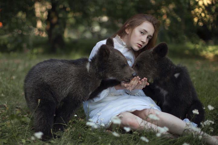 More Gorgeous Portraits Of Women With Wild Animals By Katerina - Russian photographer takes enchanting fairytale photos featuring wild animals