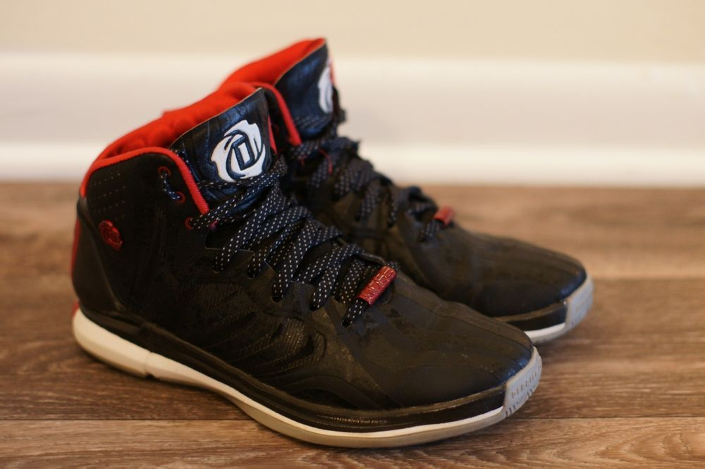 best sneakers 96f33 60b3e Derrick Rose Adidas 4.5 Silver and Red Size 7.5  fashion  clothing  shoes   accessories  mensshoes  athleticshoes (ebay link)