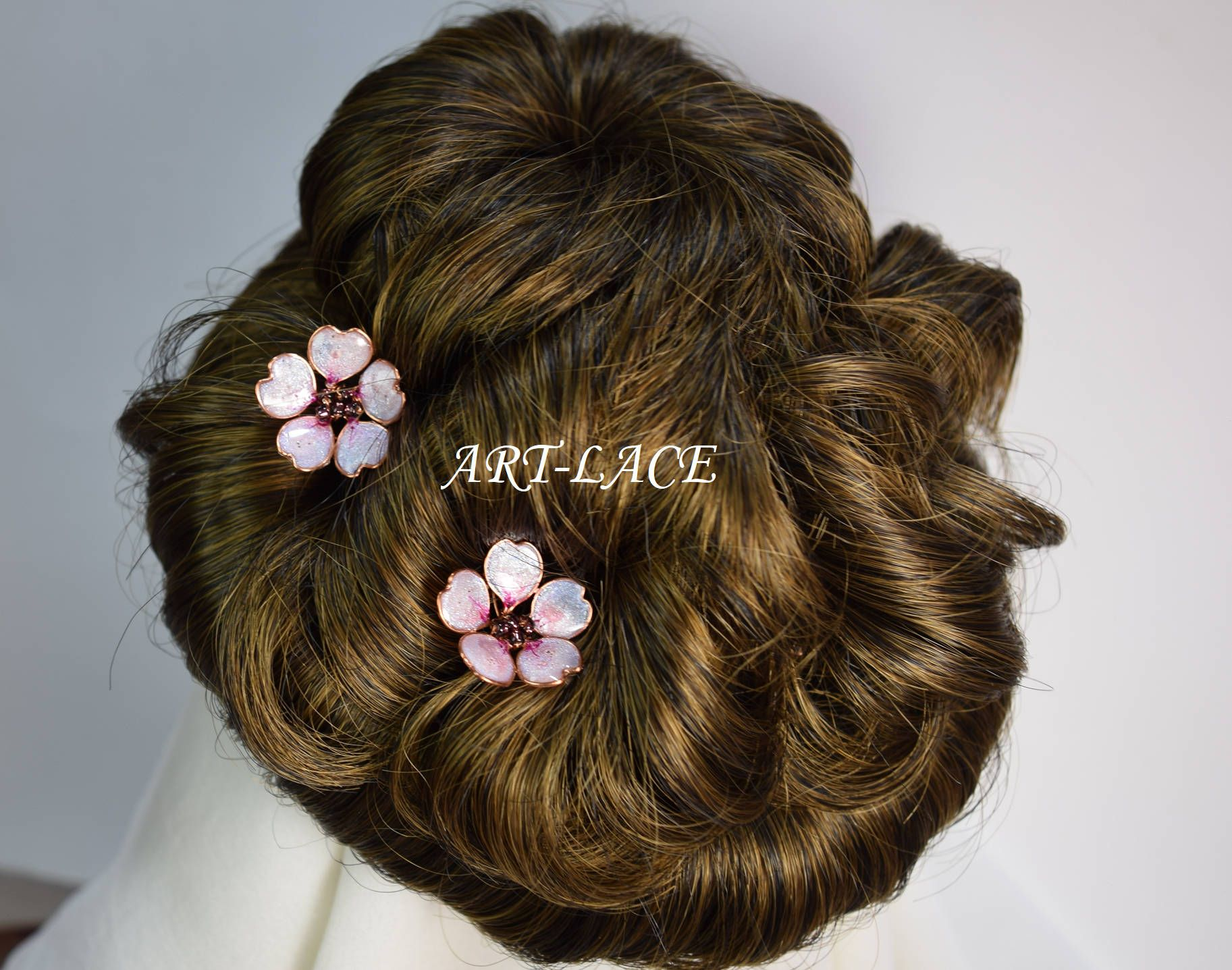 sakura hair pin rose gold hair accessories for women cherry