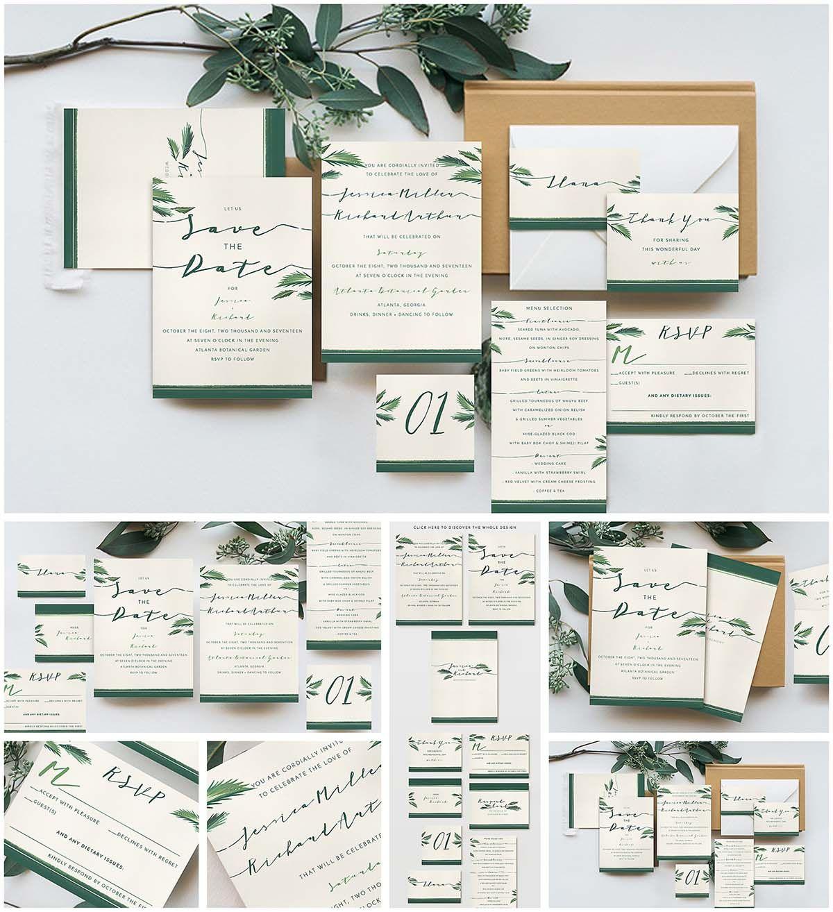 Good Tropical Wedding Invitation Cards