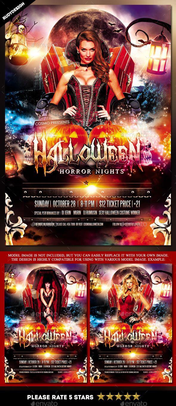 halloween horror night costume party flyer halloween horror nights