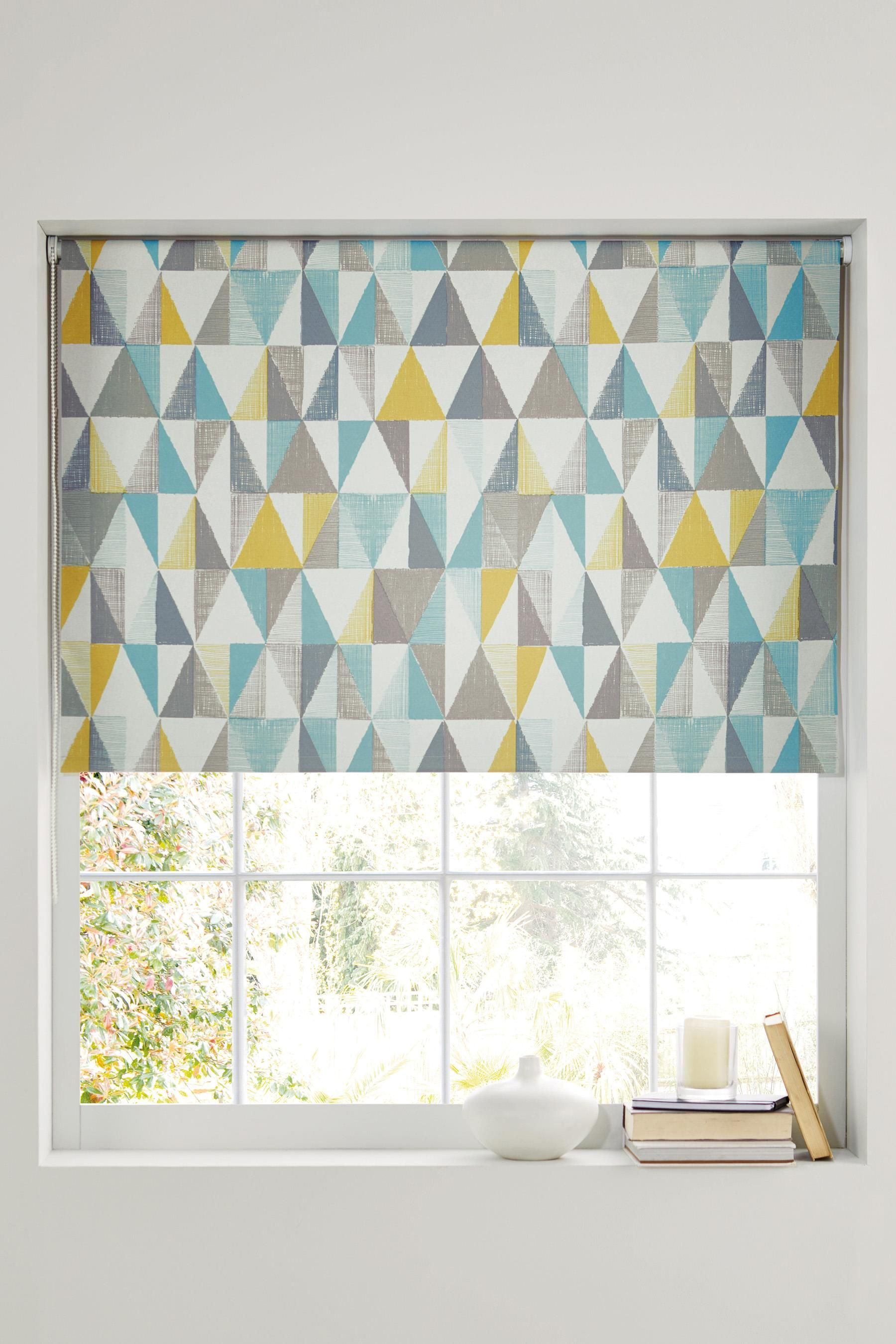 Cheap bathroom blinds uk - Buy Textured Geo Print Blackout Roller Blind From The Next Uk Online Shop