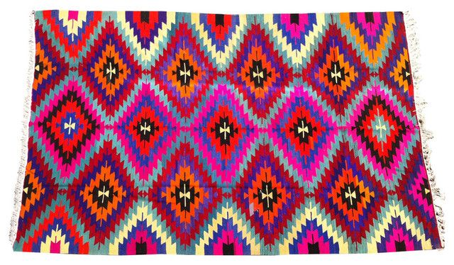 Multi Colored Geometric Rug Eclectic Rugs By Pe Amber Interiors