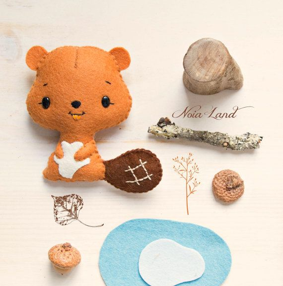 PDF Pattern. Cute beaver | Nähen