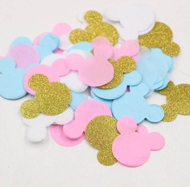20g/bag Pink Blue Gold Glitter Mickey Mouse Confetti confetti bag Birthday Party Decoration Supplies