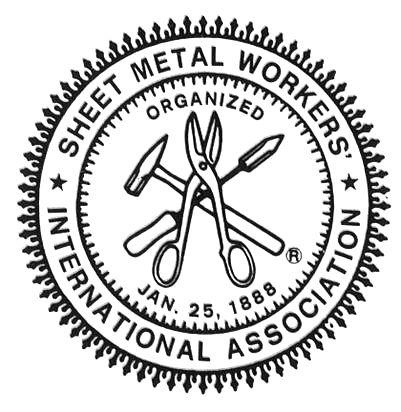 Smetal Jpg 401 412 Pixels Union Logo Sheet Metal Metal Workers