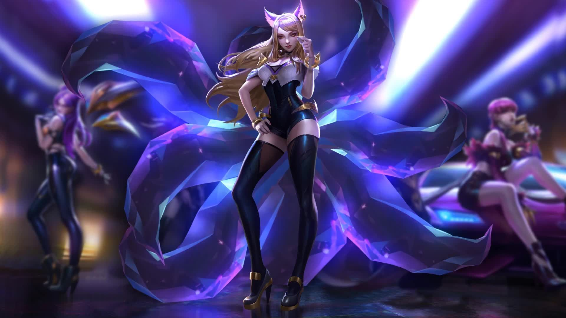 Kda Ahri Heart Live Wallpaper Mobile Legend Wallpaper Anime Wallpaper Live League Of Legends Video
