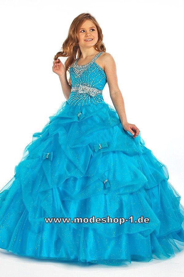 A Linie Abendkleid Ballkleid für Mädchen in Blau www.modeshop-1.de ...
