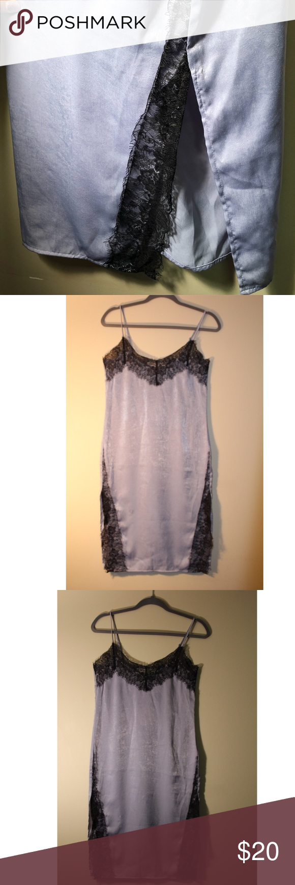H&m blue lace dress  HuM Coachella Collection Lace and Stud Slip Dress NWT in   My