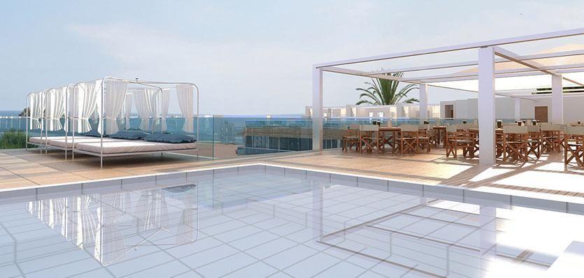 Balibeds at the pool of hotel ME #ibiza