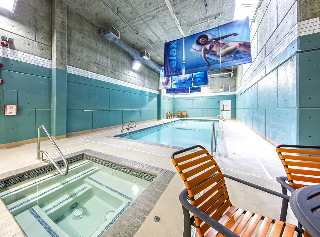 Lap Time In The Pool Or Relax Time In The Hot Tub Bellevue Park Luxury Apartments Indoor Pool