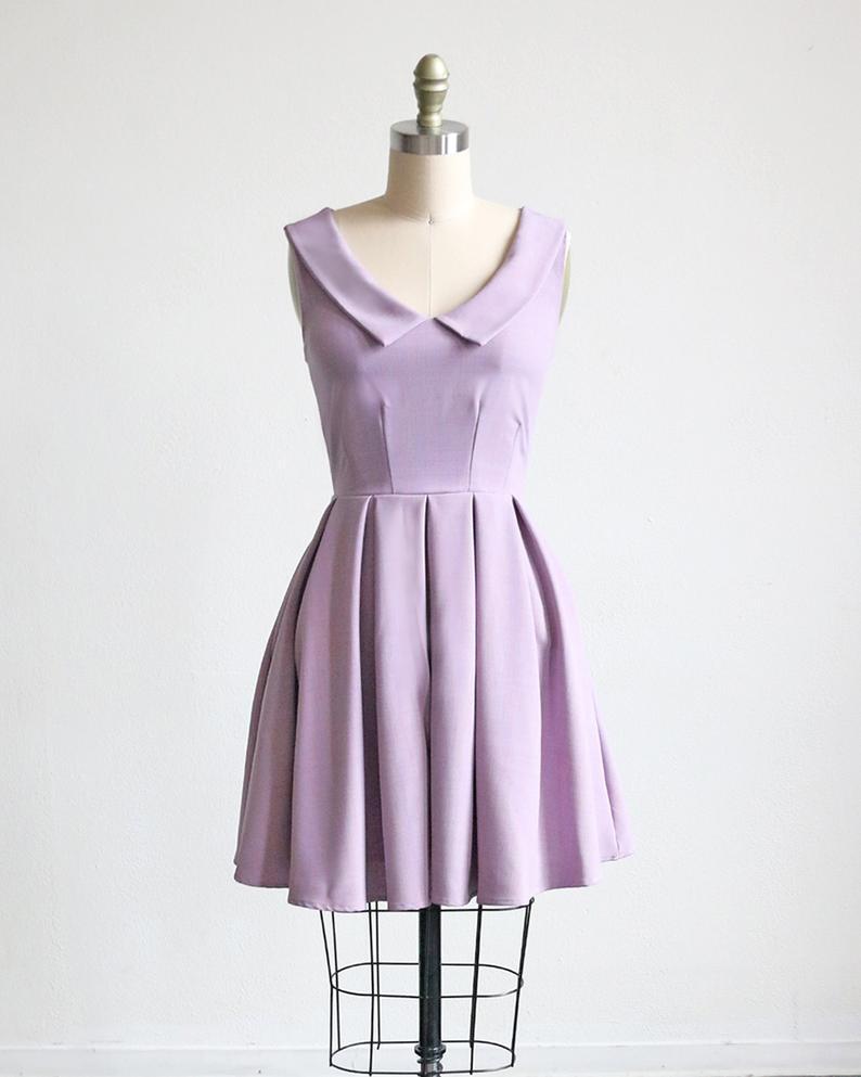 Sunday Lavender Pastel Purple 1960s Mod Retro Dress With Etsy Retro Inspired Dress Purple Party Dress Collar Dress [ 993 x 794 Pixel ]