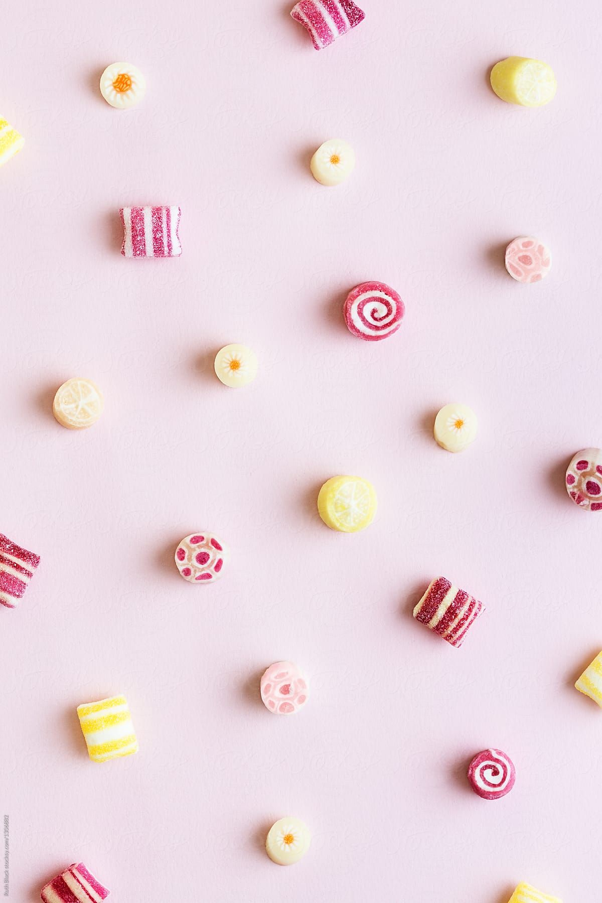 Candy background by Ruth Black for Stocksy United | แบค ...
