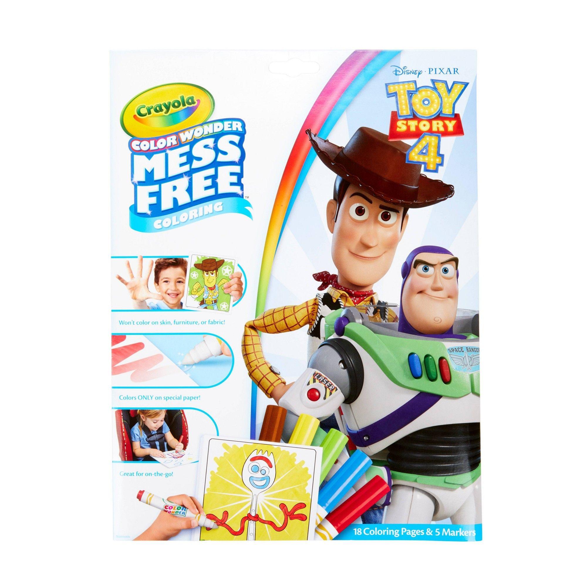 Crayola 18pg Disney Toy Story 4 Color Wonder Mess Free Coloring White Color Wonder Toy Story Gifts Disney Toys