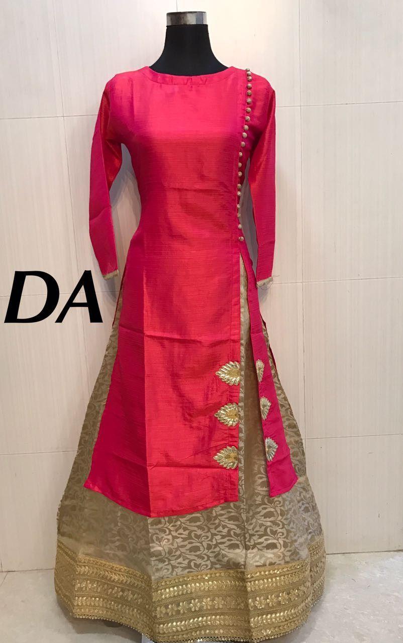 Silk long top with skirt indian wear pinterest silk indian
