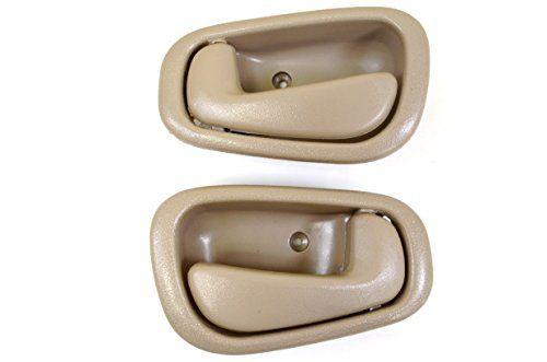 Pt Auto Warehouse To 2543e Dp Inside Interior Inner Door Handle Beige Tan Manual Lock Left Right Pair