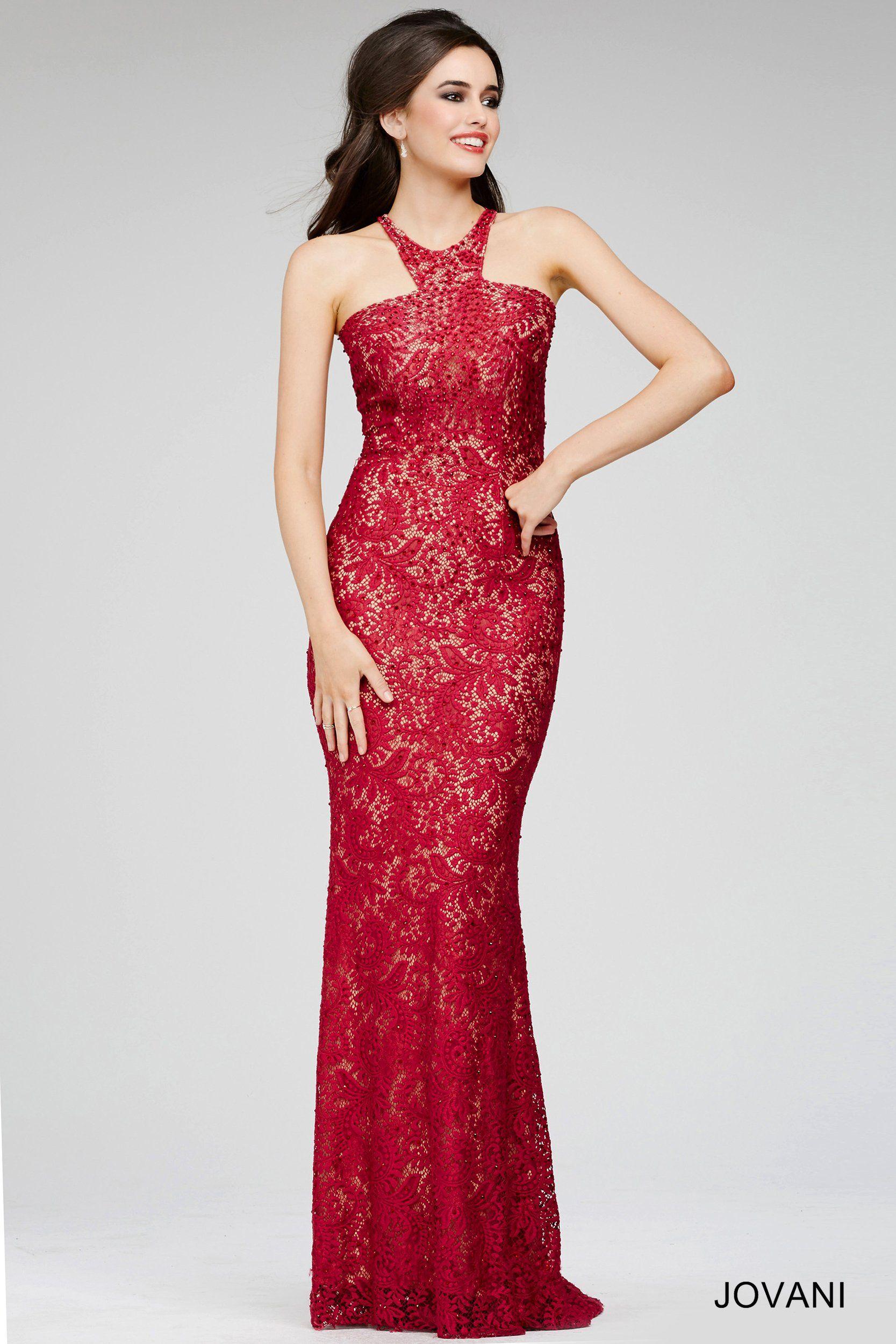Red floral lace dress evening dresses pinterest floral