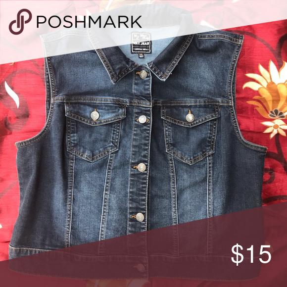 630bc331ef13 Plus Size Denim Vest Denim vest. Runs small Wax Jean Jackets & Coats Vests