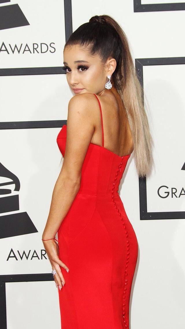 Ariana Wearing A Red Beautiful Dress Ariana Ariana Grande Old