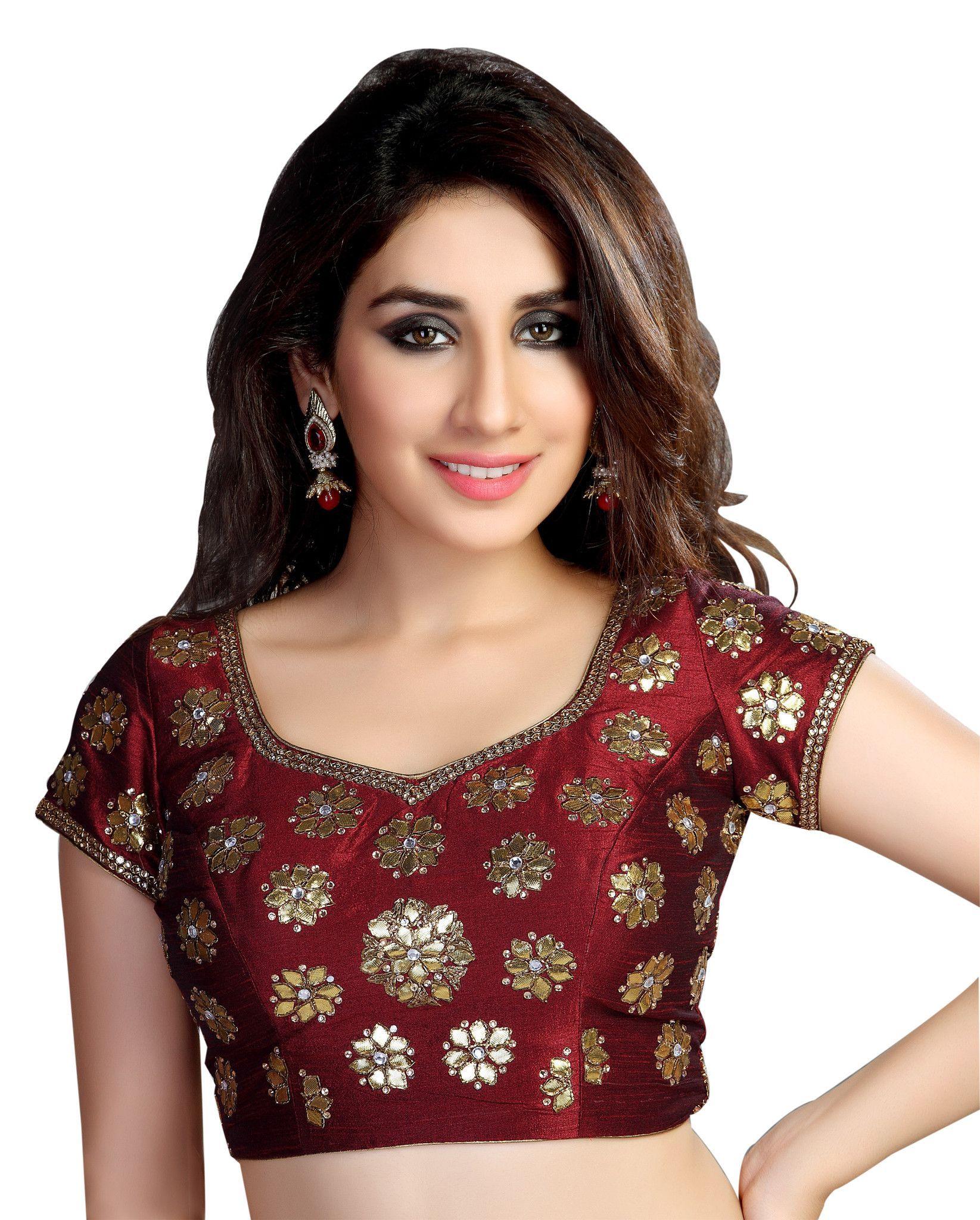 Maroon silk saree floral designed maroon silk saree blouse kp  products